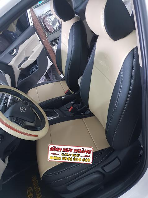 Áo ghế xe Hyundai Accent được May tại Ô Tô Sinh